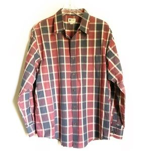 Haggar Plaid Button Down Shirt